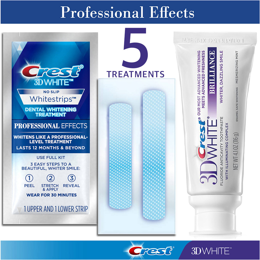 Crest 3D White Professional Effects 5 ngay kem